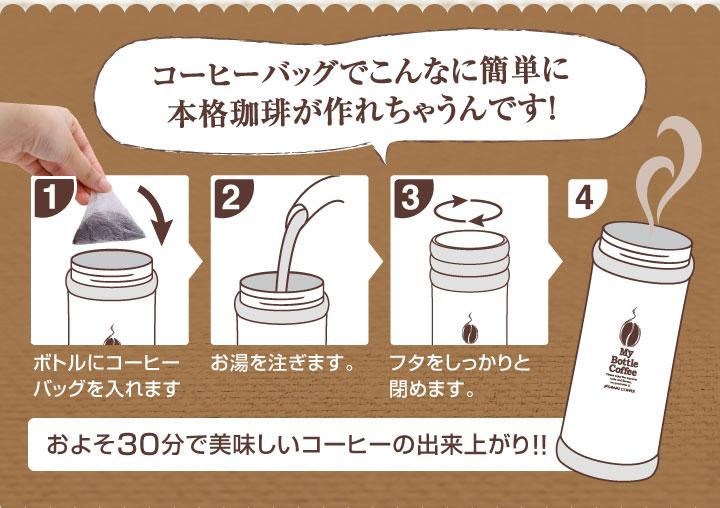 コーヒーバッグでこんなに簡単に作れちゃうんです