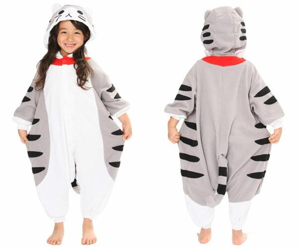 服装小孩虎猫服装fleece