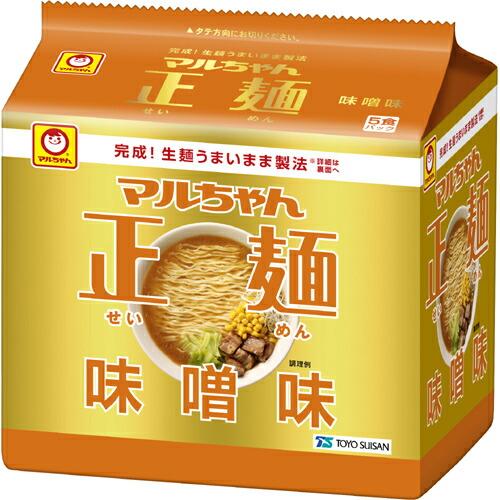 マルちゃん正麺味噌味(5食入)インスタントらーめん【ya】