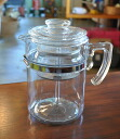 Old Pyrex flameware 9 cup percolator PYREX Corning coffee maker