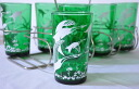 Unused dead stock FireKing fire King tumbler of forest green