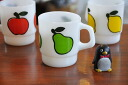 FireKing fire King Super fruit mug pair ( PEAR )