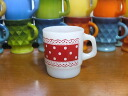 Fire King picnic mug red residing red FIREKING