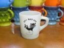 Cat fire-King glass mug DEL RAY INN Admasu FireKing