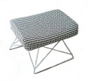 Ottoman Alexander Giraldo double triangle fabric using Alexander Girard ◆ SCOOPS Ottoman
