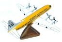 ● Braniff L188 Airplane Desk model Yellow Wood Curving desk model ● yellow