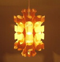 Light lighting artist Otani seafood produce art wood lamp shade Pine Wood Matsu