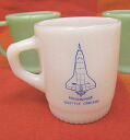 Mug FireKing fire King NASA Enterprise Johnson Space Center