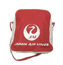 Japan Airlines JAL Tsuru Maru EXPO ' 70 Red Osaka World Expo model bag