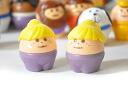No egg Thomas littletykes white blonde ponytail purple pants collar sth America
