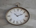 Old brass オーバルク rock wall clock Pocket Watch shaped wall clock