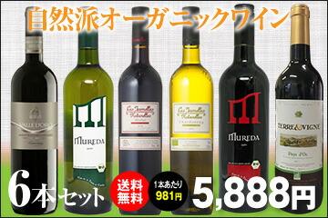 自然派オーガニック ワイン 6本セット