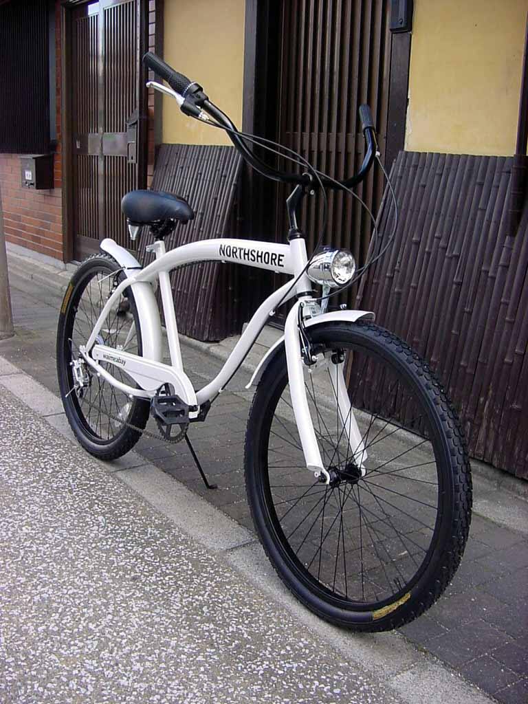 自転車の 自転車 ライト led あさひ : 】ビーチクルーザー 自転車 ...