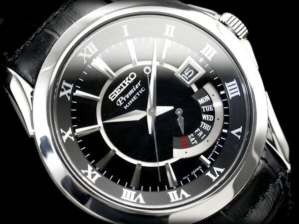 Reloj seiko watch kinetic premier hombre srn005p1 acero - Pilas de acero inoxidable ...