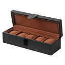 Watch storage case synthetic leather 5 books for storage-black SE55005LBK