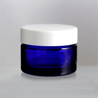 玻璃瓶 乳霜瓶 M-40乳霜 40g用 blue glass lotion jar