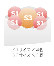S1サイズ × 4個 S3サイズ × 1個