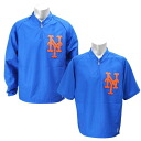 MLB Mets jacket blue / 2012 majestic /Majestic (the Authentic Cool Base Triple Peak Convertible Gamer Jacket)
