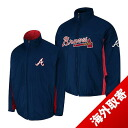 -1 MLB Atlanta Braves Authentic Triple Climate 3-In On-Field jacket (navy) Majestic