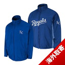 Majestic MLB Kansas City Royals Authentic Triple Climate-in-1 On-Field jacket (blue)