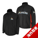 -1 MLB Miami Marlins Authentic Triple Climate 3-In On-Field jacket (black) Majestic