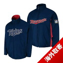 Majestic MLB Minnesota Twins Authentic Triple Climate-in-1 On-Field jacket (Navy)