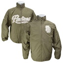 -1 MLB San Diego Padres Authentic Triple Climate 3-In On-Field jacket (olive) Majestic