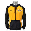 NBA Lakers jacket gold / black adidas /Adidas (2014 Pre-Game F/Z Hooded Jacket)