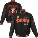 JH Design MLB San Francisco Giants 2014 World Series Champions Reversible Wool jacket (black)