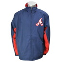 Majestic MLB Atlanta Braves Authentic Wind Jacket (Navy)