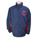 -MLB Cleveland Indians Authentic Wind Jacket Majestic