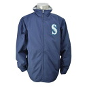 Majestic MLB Seattle Mariners Authentic Wind Jacket (Navy)