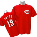 MLB Reds #19 Joey bot Player T-shirt (red) Majestic