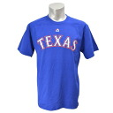 Majestic MLB Texas Rangers Wordmark tee shirts (blue /Texas)