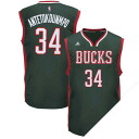 NBA bucks Yannis, Adetokunbo uniform load adidas /Adidas (Revolution Replica Jersey)