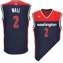 NBA wizards John wall Jersey road adidas /Adidas (Revolution Replica Jersey)