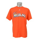 MLB Marlins T shirt Orange majestic /Majestic (New Wordmark Tee)