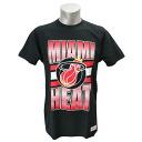 NBA Miami Heat Gradient T-shirt (black) Mitchell&Ness