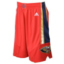 An alternate NBA pelicans shorts / red adidas /Adidas (Revolution Swingman Short)