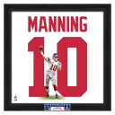 And the NFL Giants # 10 Eli Manning 20 Uniframe Photo File