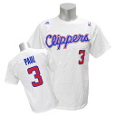 Adidas NBA Clippers # 3 Chris Paul GAME TIME t-shirt (white)