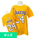 Adidas NBA Lakers # 24 Kobe Bryant Youth GAME TIME t-shirt (gold)