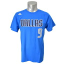 And the NBA Mavericks Rajon Rondo T Shirt Blue adidas /Adidas (NET NUMBER TEE)