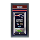 NFL Patriots FAT file /Photo File (Framed Championship Banner - 14. 5 x 27.5)