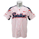 2013 Tokyo Yakult Swallows replica uniform sublimation print plain fabric (home) Zett