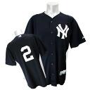 -MLB Yankees # 2 Derek Jeter AC Cool Base Player BP Jersey 2011 (Navy)