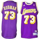 NBA Lakers #73 Dennis Rodman Soul Swingman uniform (purple) Adidas