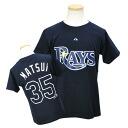 MLB raise #35 Hideki Matsui Jr. Player T-shirt JPN Ver (navy) Majestic