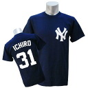 MLB Yankees #31 Ichiro Player T-shirt JPN Ver (navy) Majestic