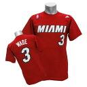 Adidas NBA heat # 3 Dwyane Wade GAME TIME t-shirt (red)